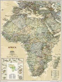 Afryka Executive mapa ścienna polityczna 1:14 244 000 National Geographic