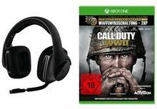 Logitech g533Gaming-Headset (bezprzewodowy DTS 7.1Surround-Sound) czarna + Call of Duty: WWIIStandard Edition[Xbox One]