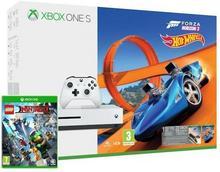 Microsoft Xbox One S 500 GB Biały + Forza Horizon 3 + Forza Horizon 3 Hot Wheels + LEGO Ninjago Movie + 6M Live Gold