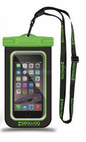 NoName Wodoodporne wodoszczelne etui do smartfona czarno zielone SEAWAGB4X