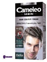 DELIA Cosmetics Cosmetics Cameleo Men Hair Colour Cream M) farba do włosów 5.0 Light Brown 30ml