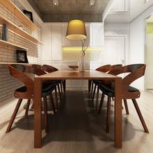 vidaXL Krzesła jadalniane, gięte, drewniana rama, brąz, skóra (x6)