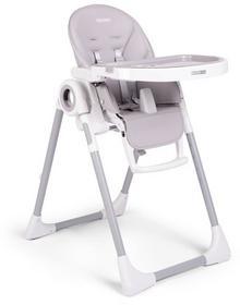Krzesełko do karmienia ze stolikiem, leżaczek Belo, Szare