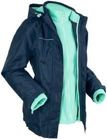 Bonprix Kurtka outdoorowa 3 w 1 ciemnoniebiesko-niebieski mentolowy