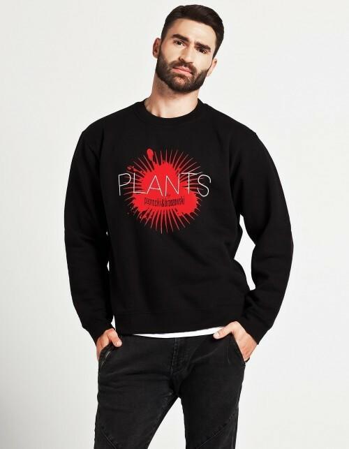 PLANTS by paprocki&brzozowski Bluza męska red plants