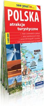 ExpressMap praca zbiorowa see you! in Polska. Atrakcje turystyczne. Papierowa mapa turystyczna 1:685000