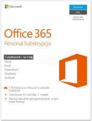 Microsoft Office 365 Personal PL licencja na rok + McAfee Total Protection 2017 PL 5 device licencja na rok