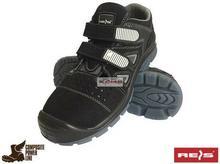 Reis BCA-BERLIN-S1 SRC - obuwie bezpieczne typu sandał, podnosek, welurowa skóra bydlęca z otworami - 38-48.