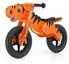 Milly Mally Drewniany rowerek biegowy DINO pomarańczowy pompowane koła