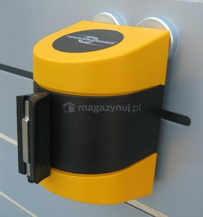Tensator Taśma ostrzegawcza rozwijana w kasecie mocowanej na magnes. MIDI. Zapięcie magnetyczne (Długość 4,6m)