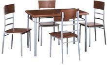 Signal Stół kuchenny Play + 4 krzesła orzech