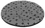CHABA Chaba Poducha Owalna Standard czarno-biała szachownica [rozmiar 2] 47 x 39cm PCHB701
