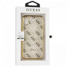 Guess 4G Transparent - Etui iPhone X (złoty) GUHCPXTR4GG