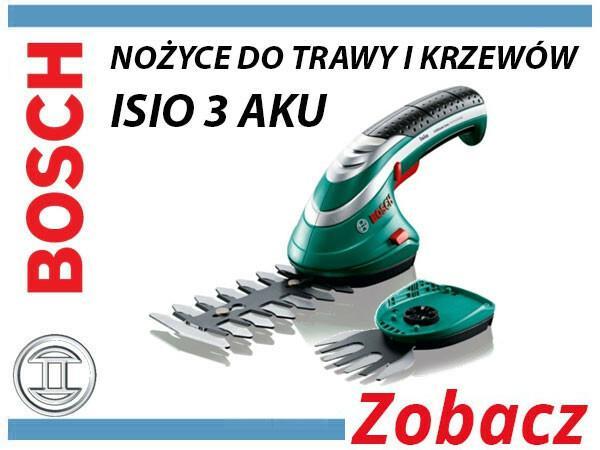 BOSCH BOSCH_elektonarzedzia BOSCH_elektonarzedzia Zestaw nożyc do trawy i krzewów Isio 3 ISIO 3 ISIO 3