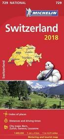 Szwajcaria. Mapa samochodowa 1:400 000