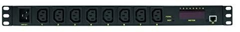 """LOGILINK Professional pdu8p01 wysokiej jakości czarna """"IP do pomiaru 19"""" Steckdosenleiste 8-krotnie z-biegów,/funkcja specjalne, temperatury i wilgotności powietrza PDU8P01"""