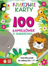 Zielona Sowa Gra Kreatywne Karty 100 Łamigłówek O Zwierzętach