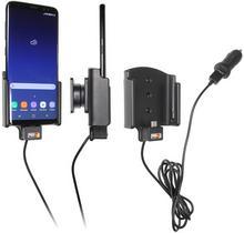Brodit AB Uchwyt do Samsung Galaxy S8 z wbudowanym kablem USB oraz ładowarką samochodową. 521966