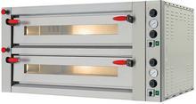 Pizza Group Dwukomorowy piec do pizzy ze stali nierdzewnej sterowany manualnie, 2x6 pizza 340 mm | Pyralis M12L P08PY10010