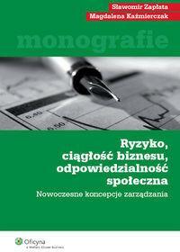 Wolters Kluwer Kaźmierczak Magdalena, Zapłata Sławomir Ryzyko ciągłość biznesu odpowiedzialność społeczna