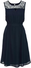 Bonprix Sukienka wieczorowa z cekinami niebieski