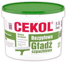 Cekol Bezpyłowa gładź szpachlowa F16 20kg 003810