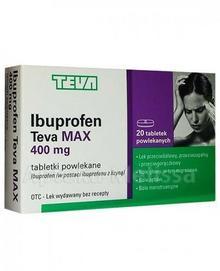 Teva TEVA IBUPROFEN MAX 400 mg 20 tabl 3682062