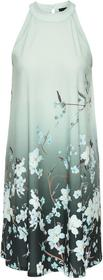 Bonprix Sukienka z dżerseju z nadrukiem ciemnoniebiesko-jasnoniebieski z nadrukiem