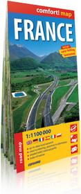 ExpressMap Francja (France) 1:1 100 000 - laminowana mapa samochodowa - Praca zbiorowa