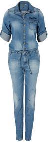 Bonprix Kombinezon dżinsowy niebieski