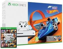 Microsoft Xbox One S 500 GB Biały + Forza Horizon 3 + Forza Horizon 3 Hot Wheels + Grand Theft Auto V + 6M Live Gold