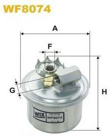 FILTRON Filtr paliwa WF8074