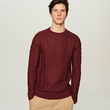 Reserved Sweter o wyrazistym splocie - Brązowy