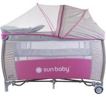 Sun Baby Łóżeczko turystyczne 4w1 Sweet Dreams dwupoziomowe turkus