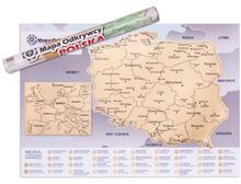 Gadget Factory Mapa Odkrywcy - Polska - ulepszona zdrapka GAD02250