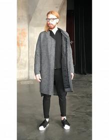 Synthetic 100%natural Płaszcz Wełna Szary