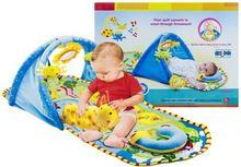 Lean Toys Toys, mata edukacyjna Tunel Farma Grzechotki 2w1