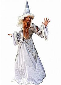 Limit Sport Błysk kostium karnawał bajkowy Fee magierin damska kurtka temperówka kapelusz wielorakie sukienka z ze sztucznego futra -  m biały B01EYVHPNU