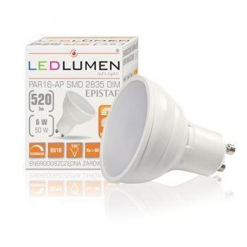 LEDlumen Żarówka PAR16-AP GU10 6W 12x2835 LED CCD DIM WW 128969695