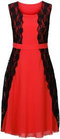 Bonprix Sukienka czerwono-czarny