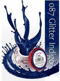 Semilac UV Gel Color 087 Glitter Indigo 5ml Żel UV do paznokci 5902533440399