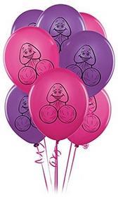 Pipedream pecker Balloons Pink & Purple 8PCS 601600