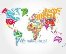 Naklej-to.pl Plakat Mapa Świata nazwy państw mapa-swiata-plakat1