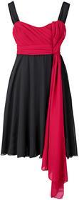 Bonprix Sukienka wieczorowa ciemnoczerwono-czarny