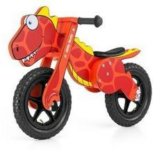 Milly Mally Drewniany rowerek biegowy DINO czerwony pompowane koła