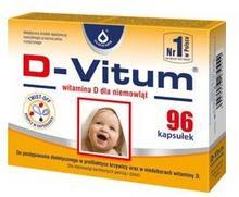 Oleofarm D-Vitum - witamina D dla niemowląt, 96 kapsułek
