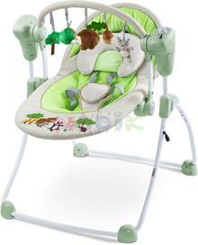 Caretero Huśtawka niemowlęca Forest szara) 12h TERO-8083