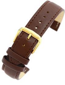Pacific Pasek skórzany PACIFIC W30 do zegarka - w pudełku -ciemny brąz- 20mm
