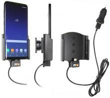 Brodit AB Uchwyt do Samsung Galaxy S8 Plus z wbudowanym kablem USB oraz ładowarką samochodową. 521967