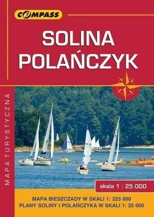 Wydawnictwo Compass Solina Polańczyk Bieszczady mapa turystyczna 1:25 000 - Compass